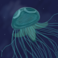 jellyfish sea by Diddgery