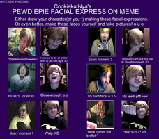 PewDiePie Expression Meme! by Sharpie-Sensei