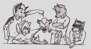 Anthro Family by HalfWayNormal