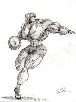 Sporting Muscle: Discus Thrower by GrandMasterLucilious