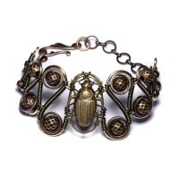 Steampunk Bracelet SCARAB CPR by CatherinetteRings