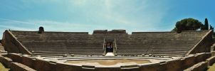 Rome - Ostia Antica amphitheatre by PhilsPictures