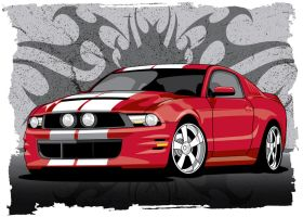 Red Mustang by stlcrazy