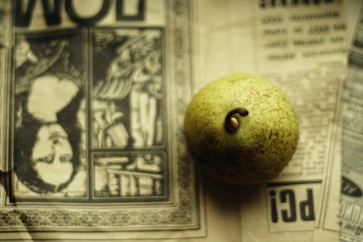 old papers and a new pear by malinkin
