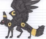 More winged umbreon by DarkSideoftheSun13