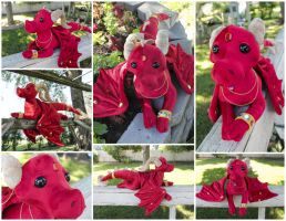 Red Treasure Dragon Collage by BeeZee-Art