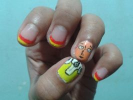 Saitama nails by blackyuna