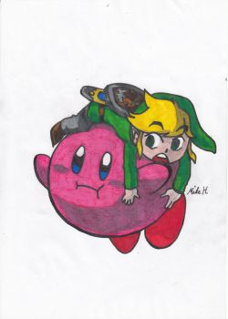 Kirby and Link by Areaofeffects