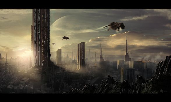 SPACE CITY by 6rhill