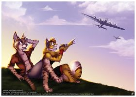 """Warbird Pals"" by JezzKitty"