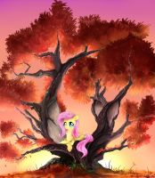 Shy on a tree by Daughter-of-Fantasy