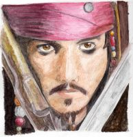 Jack Sparrow Watercolor by tite-pao