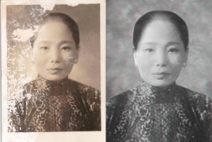 Photo Restoration with 3D Anaglyph Background by AskGriff