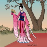 Mulan geisha by lauraboo123
