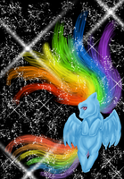 .:Rainbow Dash:. by Blood-Charm