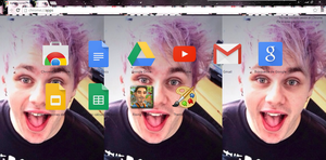 Google Theme Michael Clifford by MeluClifford1D