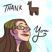 Thank you Llama by curiousdoodler