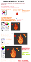 Paint Tool SAI Fire Tutorial by xxGaby1699xx