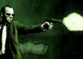 Green-agent by Artist-KGH