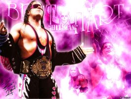 "Bret ""HITMAN"" Hart Wallpaper by AISTYLES"