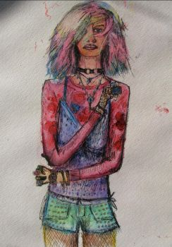 The Girl With Pastel Hair 2 by YamaTheSpaceFish