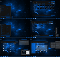 windows 7 theme blue line (glass) by tono3022