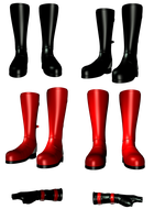 Boots and Gloves png by mysticmorning