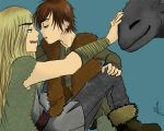 Tuffnut and Hiccup by Akra-Cat