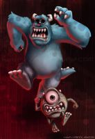 Monsters Eek by fractal-inversion