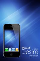 iPhone 4 Blue Desire Wallpaper by Martz90