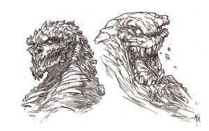 KILLER CROC AND CLAYFACE by QuinteroART