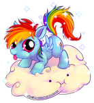 Rainbow Dash Cutie by angelishi