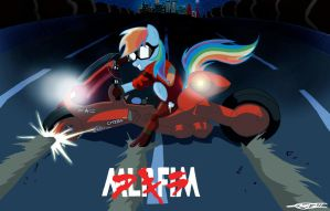 Rainbow Dash: Neo-Equestria Biker by WillisNinety-Six