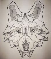 Geometric Wolf by FetchKnows