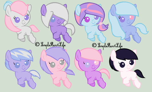 Adoptables: Sugar Whip + Sweet Swirl Foals - OPEN by Winter-Wondermare