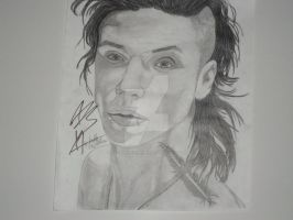 Andy Biersack black and white updatet by xxdaswarwohlnix