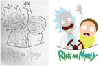 Rick and Morty Process by YukiimomoDesigns