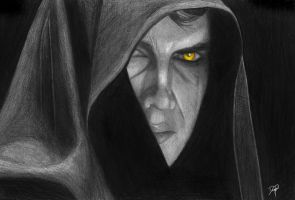 Anakin Skywalker Evil eye by KaineT