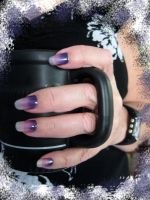 Purple Gradient Nail Art by MayEbony