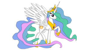 Princess Celestia Shading by Music-S-Brush