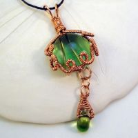 Copper Wirework Pendant by bugsandbears