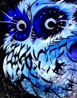 Galaxy Owl by decaymyfriend