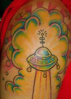 UFO tattoo by VanZanto