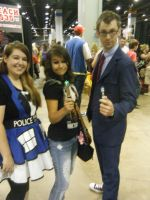 Chicago ComicCon 2014 - 10th Doctor And Draga by InsaneSpyro