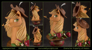 Commission : Applejack Bust by emilySculpts