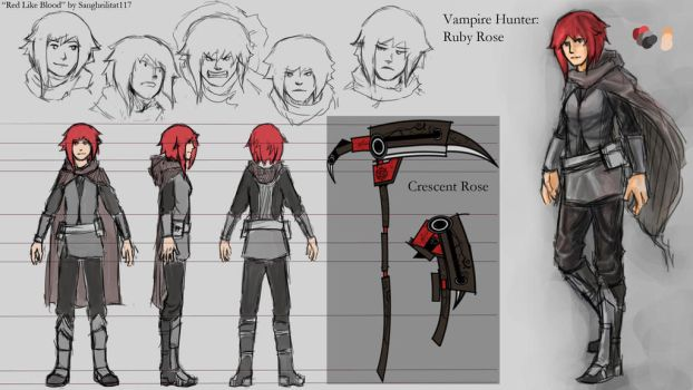 Red Like Blood-Ruby Rose Character Sheet by Legacyhunter