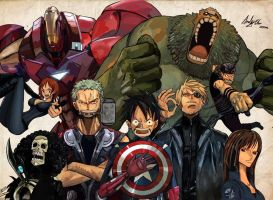 One Piece - Marvel's The Avenger's by Bakuman66