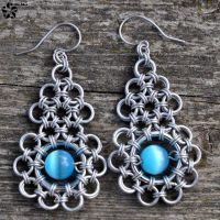 Metal lace earrings II by Jezerel