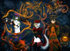 Halloween Party CA collab by annathewerewolf