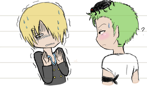 Zoro and Sanji sketchie by eagle-eyes